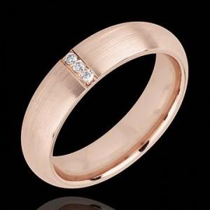 alliance or rose diamants