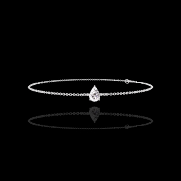 Armband Create 200131 Witgoud 18 karaat - Diamant Peer 0.3 Karaat - Ketting FORCAT