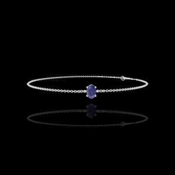 Armband Create 200676 Weißgold 375/-(9Kt) - Blauer Saphir Oval 0.3 Karat - Kette FORCAT