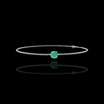 Armband Create 200772 Weißgold 375/-(9Kt) - Smaragd rund 0.3 Karat - Kette FORCAT