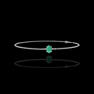 Armband Create 200868 Weißgold 375/-(9Kt) - Smaragd Oval 0.3 Karat - Kette FORCAT