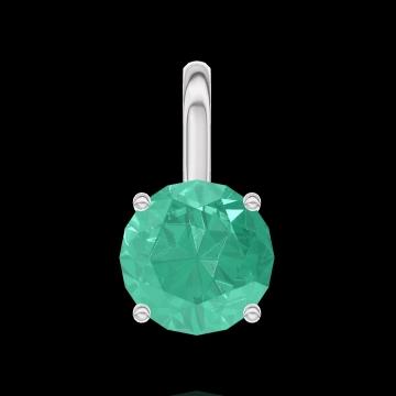 Hanger Create 207012 Witgoud 9 karaat - Smaragd Rond 0.3 Karaat - Geen ketting
