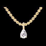 Colgante Create 203189 Oro amarillo 18 quilates - Diamante Pera 0.3 quilates - Engastado Diamante - Cadenas FORCAT
