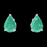 Ohrringe Create 201412 Weißgold 375/-(9Kt) - Smaragd Tropfen 0.3 Karat (2 X)