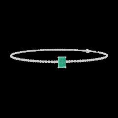 Armband Create 200836 Weißgold 375/-(9Kt) - Smaragd Rechteckig 0.3 Karat - Kette FORCAT