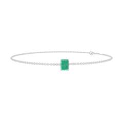 Armband Create 200836 Witgoud 9 karaat - Smaragd Rechthoekig 0.3 Karaat - Ketting FORCAT