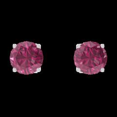 Boucles d'oreilles Create 201156 Or blanc 9 carats - Rubis Rond 0.3 carat (2 X)