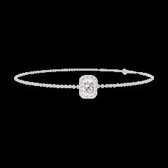 Bracciale Create 200075 Oro bianco 18 carati - Diamante Rettangolo 0.3 Carati - Halo Diamante - Catena FORCAT