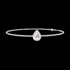 Bracciale Create 200139 Oro bianco 18 carati - Diamante Goccia 0.3 Carati - Halo Diamante - Catena FORCAT