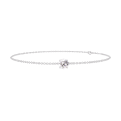 Bracelet Create 200004 White gold 9 carats - Diamond white round 0.3 Carats - Chain FORCAT