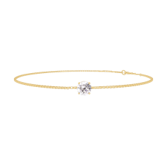 Bracelet Create 200005 Or jaune 18 carats - Diamant Rond 0.3 carat - Chaîne VENITIENNE