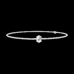 Bracelet Create 200100 White gold 9 carats - Diamond white Oval 0.3 Carats - Chain FORCAT