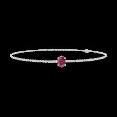 Bracelet Create 200483 Or blanc 18 carats - Rubis Ovale 0.3 carat - Chaîne FORCAT