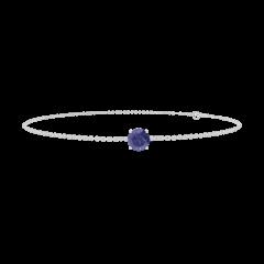 Bracelet Create 200580 Or blanc 9 carats - Saphir bleu Rond 0.3 carat - Chaîne FORCAT