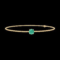 Bracelet Create 200770 Or jaune 9 carats - Émeraude Rond 0.3 carat - Chaîne FORCAT