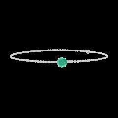 Bracelet Create 200772 Or blanc 9 carats - Émeraude Rond 0.3 carat - Chaîne FORCAT