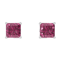 Earrings Create 201172 White gold 9 carats - Ruby Princess 0.3 Carats (2 X)