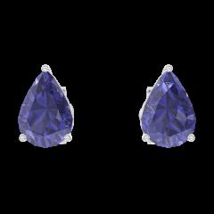 Ohrringe Create 201316 Weißgold 375/-(9Kt) - Blauer Saphir Tropfen 0.3 Karat (2 X)