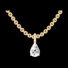 Pendentif Create 203189 Or jaune 18 carats - Diamant Poire 0.3 carat - Sertissage Diamant - Chaîne FORCAT