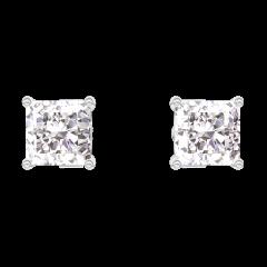 Pendientes Create 200980 Oro blanco 9 quilates - Diamante Princesa 0.3 quilates (2 X)