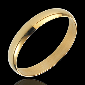 gift woman Yellow Gold Pure Ring