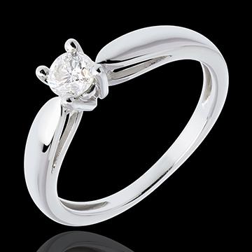 خاتم روزو من الذهب الأبيض 18 قيراط (TGM) - 0.3 قيراط