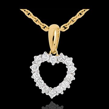 Juwelier Anhänger funkelndes Herz - 0.25 Karat - 14 Diamanten