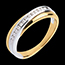 weddings Wedding ring yellow gold-white gold channel setting - 14 diamonds