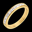 Semi-paved wedding ring yellow gold channel setting - 0.7 carat - 10 diamonds