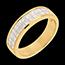 Verkäufe Trauring zur Hälfte mit Diamanten besetzt in Gelbgold - Kanalfassung 2-reihig - 1 Karat