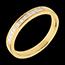 Fede nuziale - Oro giallo semi pavé - 18 carati - 11 Diamanti - incastonatura a binario - 0.31 carati