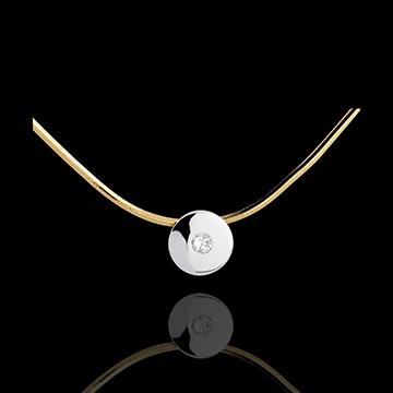 قلادة سونطر موند ـ الذهب الأبيض و الذهب الأصفر 18 قيراطً