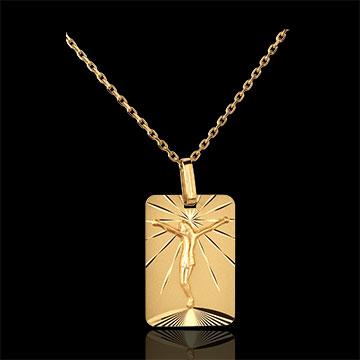ميدالية لوحة المسيح ـ ذهب أصفر عيار 18 قيراط