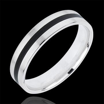 خاتم زواج ماييسترو ـ الذهب الأبيض والذهب الأصفر 18 قيراط
