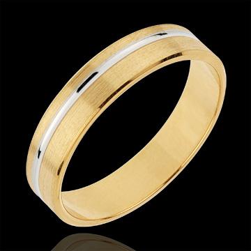 خاتم زواج إيمانويل ـ الذهب الأبيض والذهب الأصفر 18 قيراط