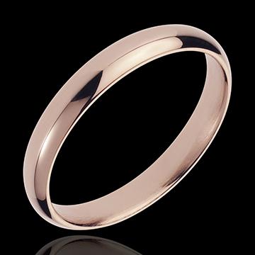 خاتم زواج من الذهب الوردي 18 قيراط