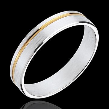 خاتم زواج ماتيس ـ الذهب الأبيض والذهب الأصفر عيار 18 قيراط