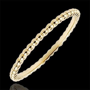 خاتم زهرة الملح ـ الذهب الأصفر عيار 18 قيراط
