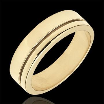 خاتم زواج أولمپيا ـ نموذج كبير ـ ذهب أصفر 18 قيراط