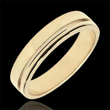 خاتم زواج أولمپيا الألماس ـ نموذج متوسط ـ الذهب الأصفر 18 قيراط
