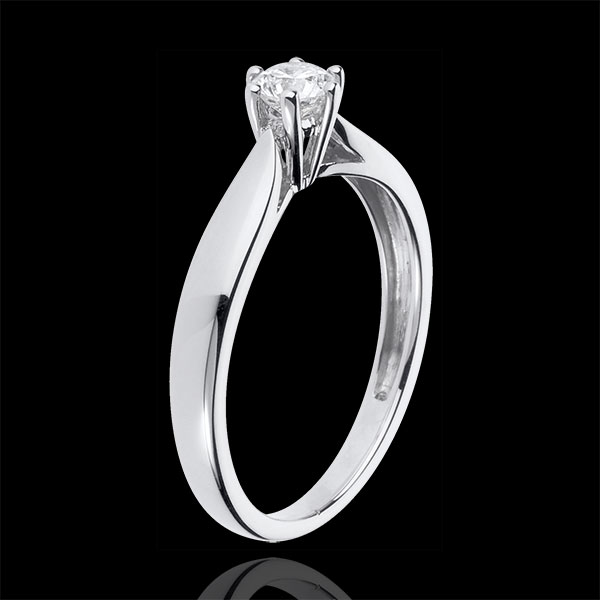 18K White Gold Roseau Solitaire 6 prong diamond