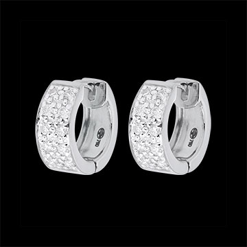 gifts women Earrings Constellation - Astral variation - large size - white gold - 0.2 carat - 20 diamonds