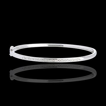 vente Bracelet Jonc or blanc 18 carats Diorama barrette diamants - 11 diamants