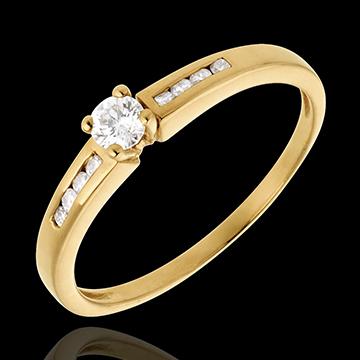 Geschenk Frau Solitär Octave in Gelbgold - 0.27 Karat - 9 Diamanten