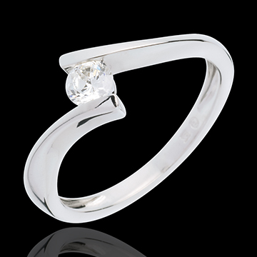 sales on line Solitaire Precious Nest - Apostrophe - white gold - diamond 0.26 carat - 18 carats
