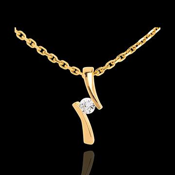 cadeaux femme Pendentif apostrophe diamant - or jaune - 0.09 carat