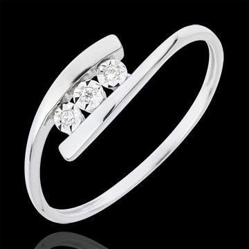 present Precious Nest Ring - Trillusion - white gold - 18 carats