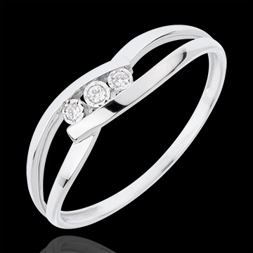 buy on line Trilogy Ring Precious Nest - Loving Kiss - white gold - 18 carats