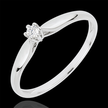 gold jewelry Solitaire Ring Sprig 6 prong diamond