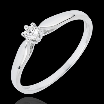 present Solitaire Ring Sprig 6 prong diamond